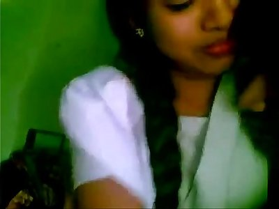 Shy indian school girl